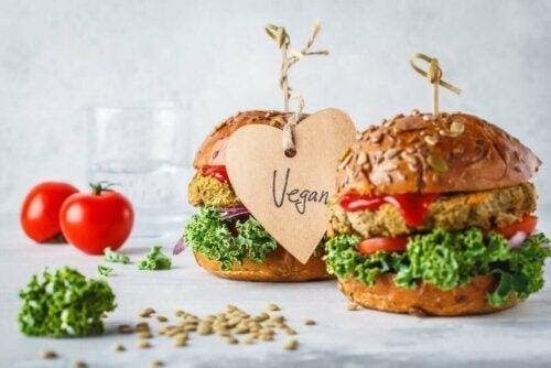 veganska hamburgare