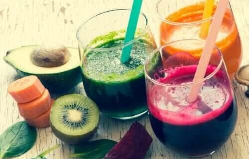 Fruktjuice i glas
