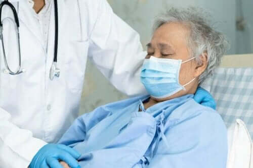 Zink stärker immunförsvaret: En patient på sjukhus.
