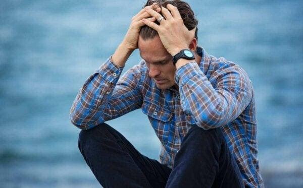 man med Existentiell depression