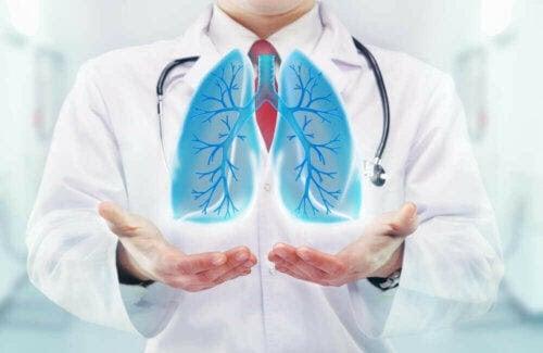 läkare med lungor