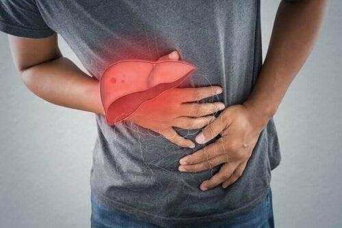 man med levervärk
