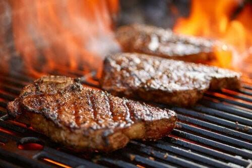 den karnivora dieten: stekar på en grill