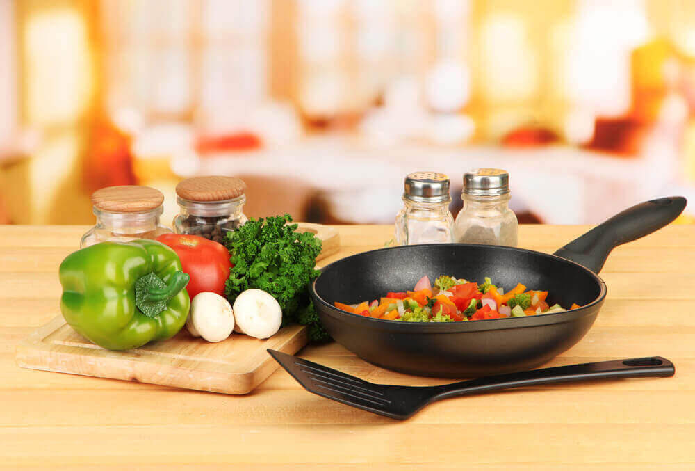 nyttig mat i stekpanna