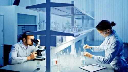Resultaten av ett spermieprov i ett laboratorium