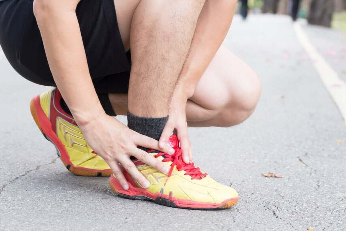 löpare med ont i foten