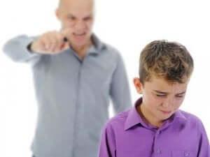 Konsekvenser när en förälder skriker åt sitt barn.