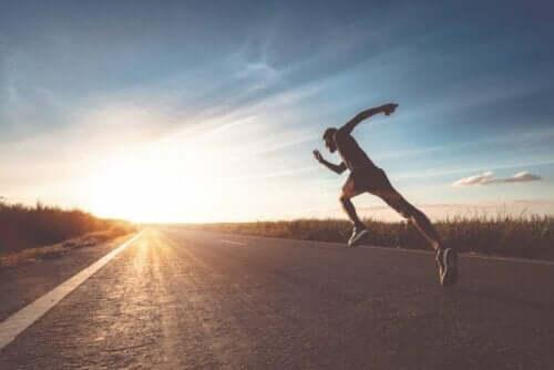 Skavsår på bröstvårtorna: löpare i motljus