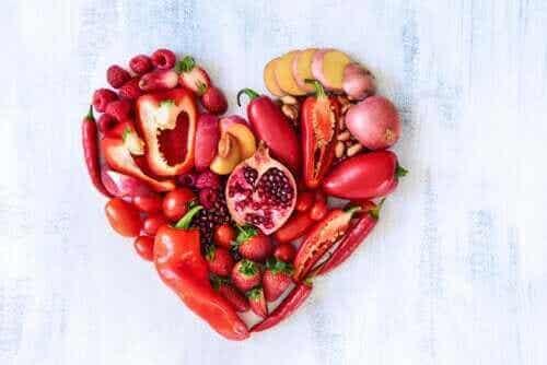 Näringsegenskaper hos röd frukt och röda grönsaker