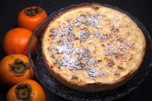 Recept på desserter med persimon och choklad