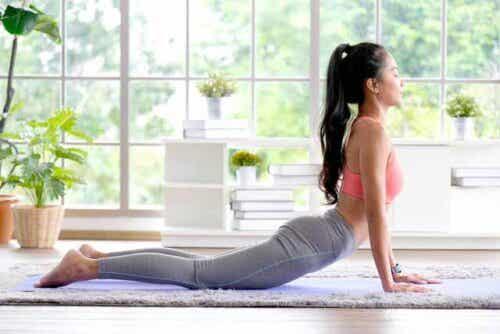 träna yoga för att lindra artros: kobran
