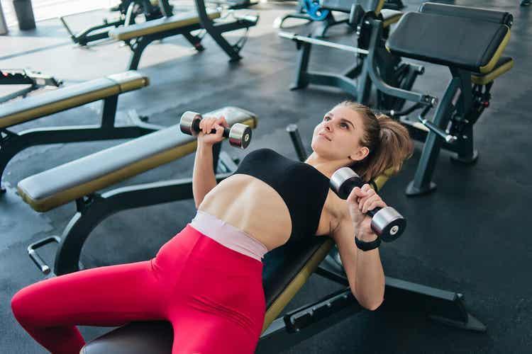 Anaeroba övningar med tyngder
