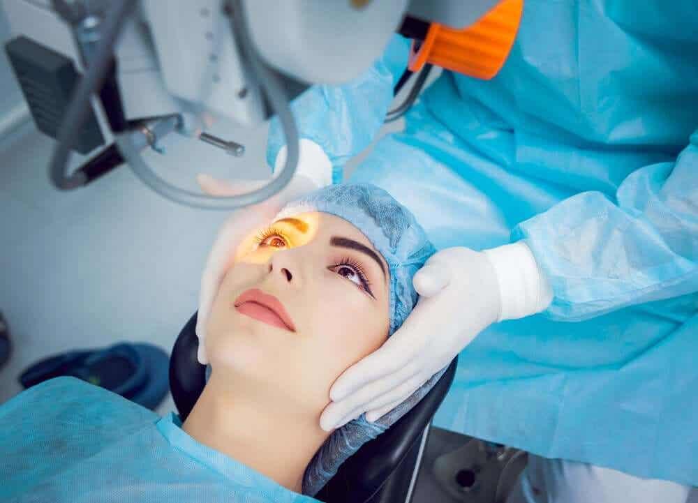 operation för Öppenvinkelglaukom, eller grön starr