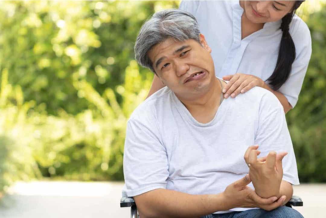 patient som har överlevt en intracerebral blödning
